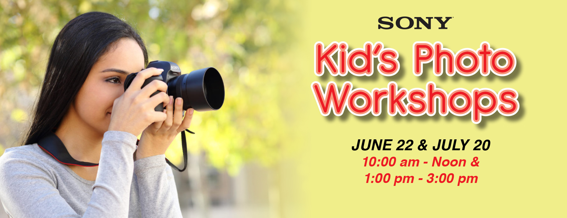 sony kid's photo workshop